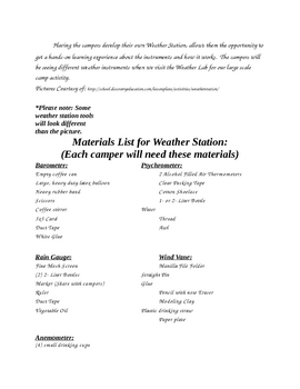 Science Camp Module For Weather
