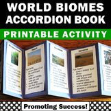 Biomes of the World Map Printable Science Activity Accordi