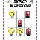 Science Electricity Partner Game Tic-Zap-Toe