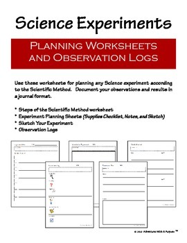 http://www.teacherspayteachers.com/Product/Science-Experiment-Planning-and-Observation-Worksheets-366121