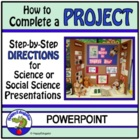 Science Fair or Social Science Fair Project PowerPoint