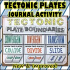Science Journal: Tectonic Plates Journal Activity w/ 2 Bou