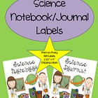 Science Journal/Notebook Labels