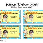 Science Notebook Labels  {Free}