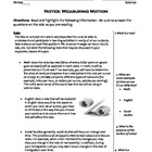 Science Notes - Speed, Acceleration, Momentum (5 - 9)