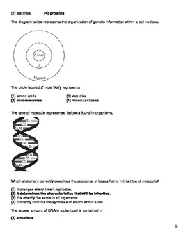 Science Question Bank - Heredity/Genetics (9 - 12)