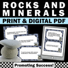 Science Rocks & Minerals Task Cards and Quiz