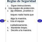 Science Safety Rules Spanish