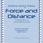 Science Story Poems about Force and Distance with an R-Con