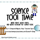 Science Tools Time{ Bingo game, Word Search, and Word Scramble}