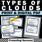 Science Types of Clouds Task Cards