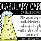 Science Vocabulary Cards {2nd Grade Common Core}
