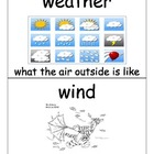 Science Vocabulary Cards Weather