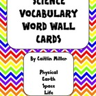 Science Vocabulary Word Wall Cards 5th Chevron