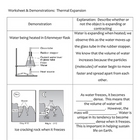 Science Worksheet - Heat, Density, and Thermal Expansion (5 - 9)