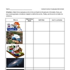 Science and Literacy - General Science Vocabulary Sheet