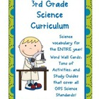 Science printables and vocabulary forthe whole year! {3rd