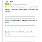 Scientific Method Fill-in Sheets