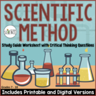 Scientific Method Homework / Study Guide (Science Skills W