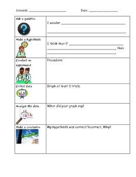 Scientific Method Primary Lab Sheet