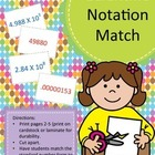 Scientific Notation matching game