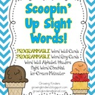 Scoopin&#039; Up Sight Words!  Programmable Word Wall!