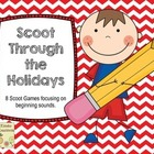 Scooting Through The Holidays with Beginning Sounds