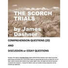Scorch Trials by James Dashner -- Questions