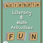 Scrabble Math &amp; Literacy Activities CD ~ Common Core Aligned!