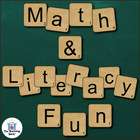 Scrabble Math &amp; Literacy Activities ~ Common Core Aligned!