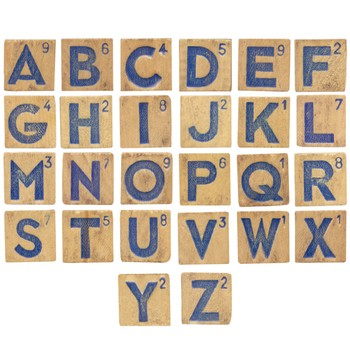 Scrabble Tile Clip Art - Alphabet