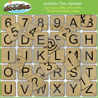 Scrabble Tiles Alphabet Clip Art