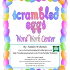 Scrambled Eggs - Word Work Center