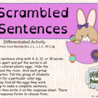 Scrambled Sentence Differentiated Activity correlated to C