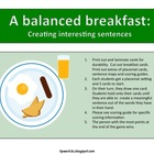 Scrambled Sentences: Speech Therapy, syntax, creating sentences