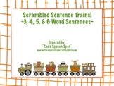 Scrambled Sentences Train Theme!   For Speech and Language