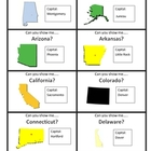 Scrambled States of America game cards and rules