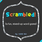 Scrambled Words!  A fun, word scramble game!