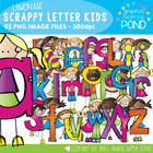 Scrappy Letters of the Alphabet Kids Clipart - Graphics Fr