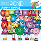 Scrappy Shapies  - Clip Art for 2D Shapes