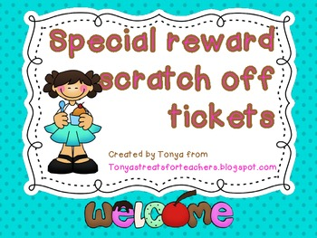 Scratch off tickets-ice cream theme