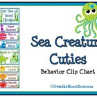 Sea Creature Cuties Behavior Clip Chart