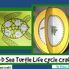 Sea Turtle Crafts: {Life Cycle of a Turtle 3-D Craftivity}