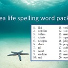 Sea life spelling packet by SpellingPackets.com