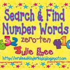Search &amp; Find Number Words