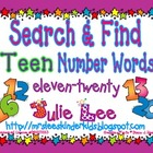 Search &amp; Find TEEN Number Words {11-20}