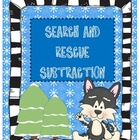 Search & Rescue Two Digit Subtraction ~ Bonus QR Code Cards!