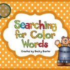 Searching for Color Words- Through the Year!