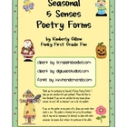 Seasonal 5 Senses Poetry Forms