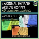 Seasonal Demand Writing Prompt Bundled Set